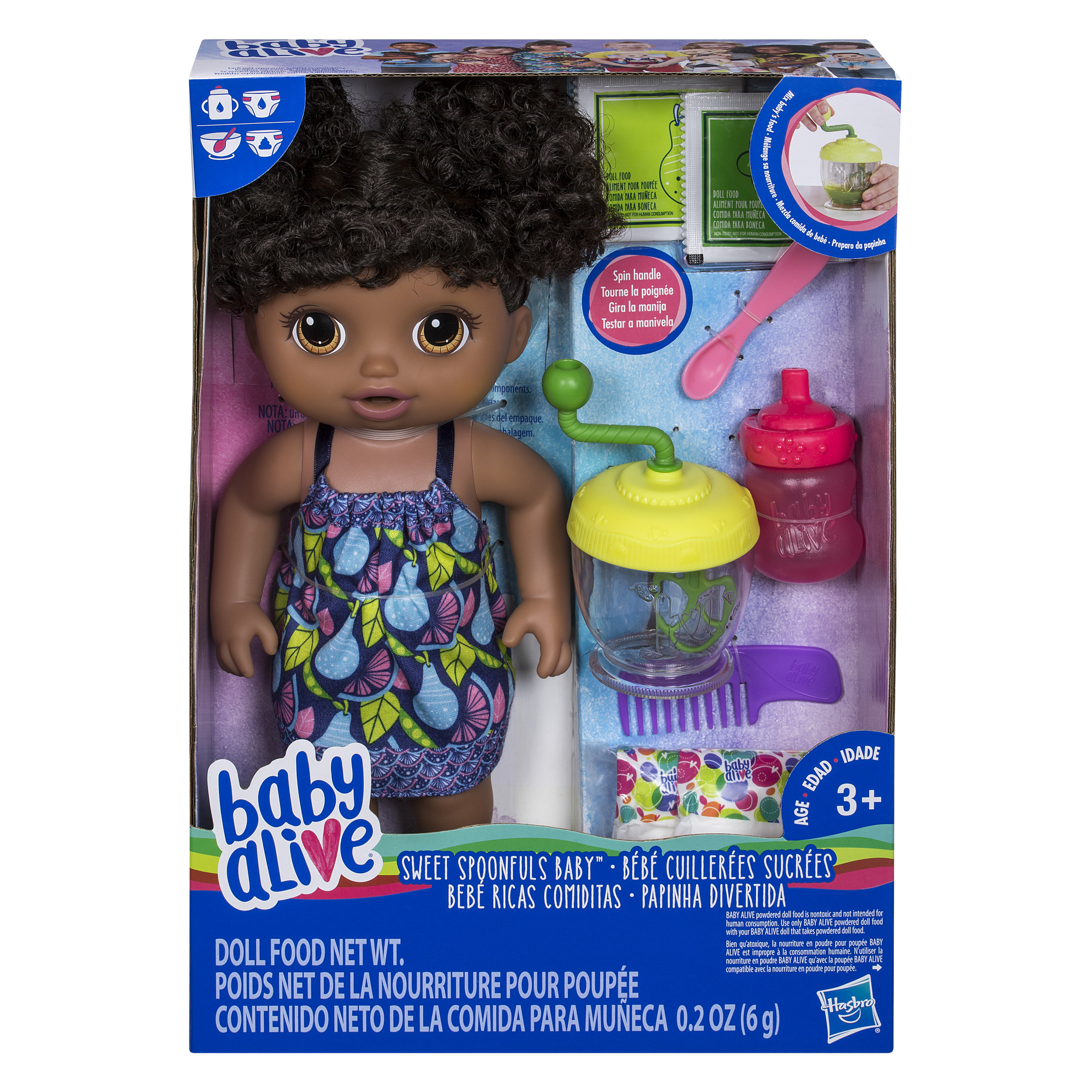 Baby Alive Sweet Spoonfuls Baby Doll Girl Black Hair