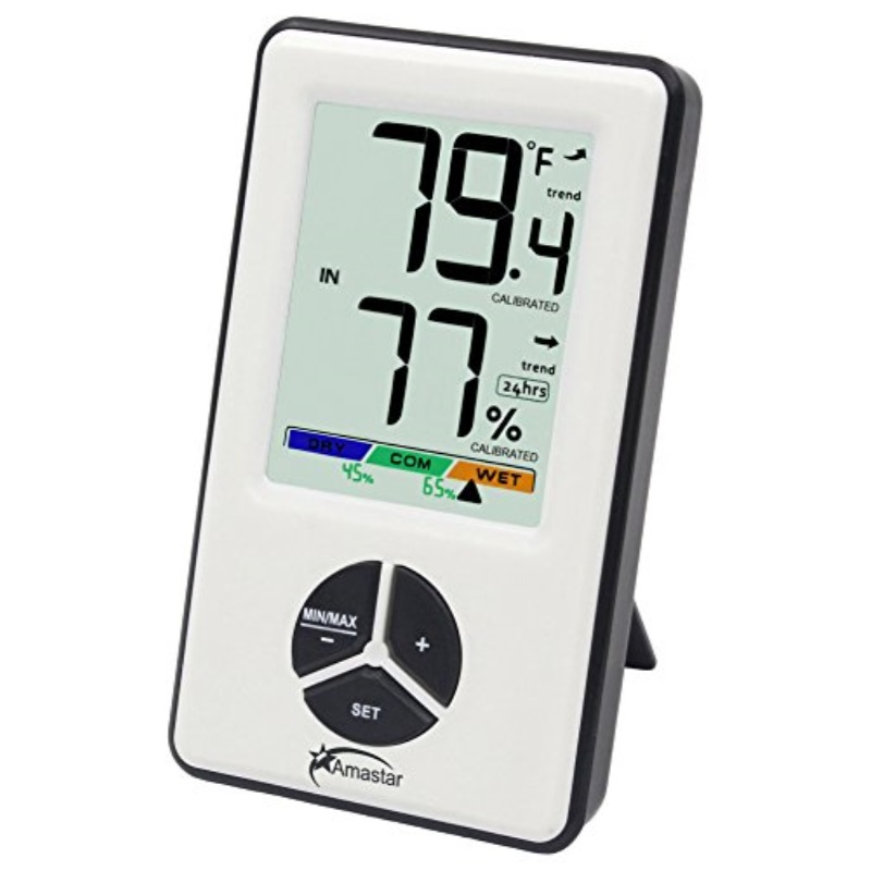 Amastar A0406 Indoor Hygrometer Thermometer Portable Digital Temperature Monitor with Humidity Level Indicator