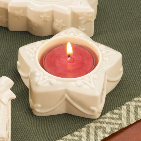 Lenox Christmas Collection 775619 Yuletide Glowlites Star Candle Holder