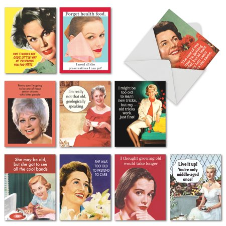 M6620BDG Ageless Wisdom: 10 Assorted Birthday Note Cards with Envelopes, The Best Card Company](Company Birthday Cards)