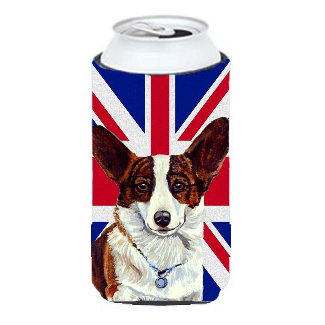 Corgi With English Union Jack British Flag Tall Boy bottle sleeve Hugger - 22 To 24 Oz. - image 1 of 1