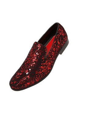 7db2497d909 Free shipping. Product Image Amali Mens Metallic and Studded Smoking  Slipper Loafer Dress Shoes