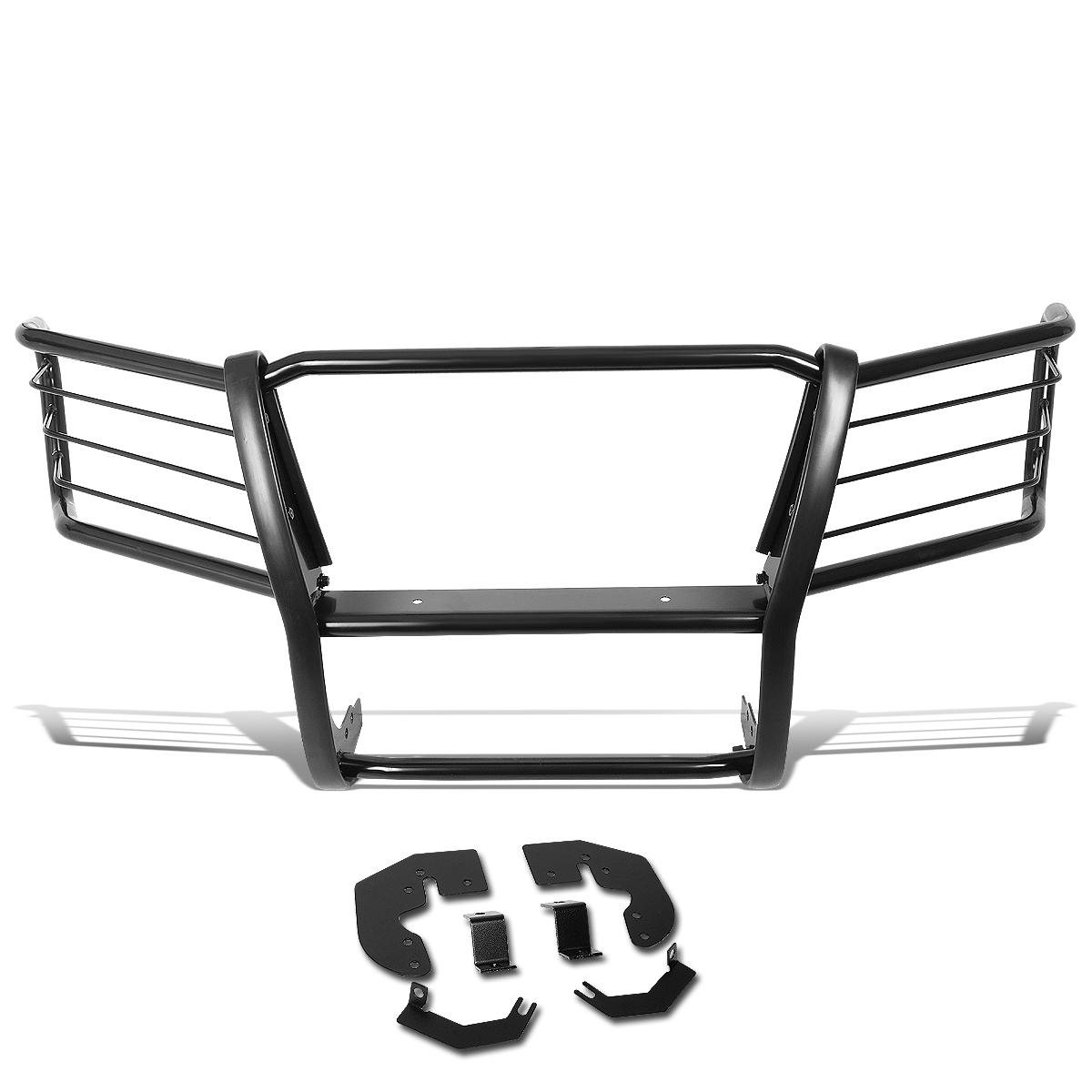 Mild Steel Front Bumper Headlight//Grille Brush Guard Replacement for 04-12 Chevy Colorado//GMC Canyon