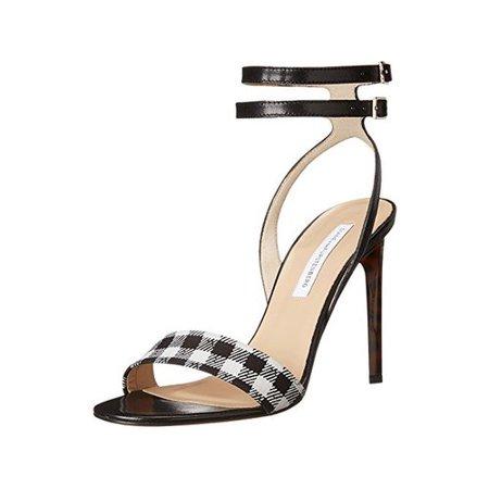 Diane von  stenberg Womens Vera Open Toe Ankle Strap D-orsay, Black, Size 8.0