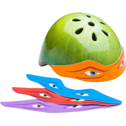 Teenage Mutant Ninja Turtles Helmet with 4 Bandanas, Youth