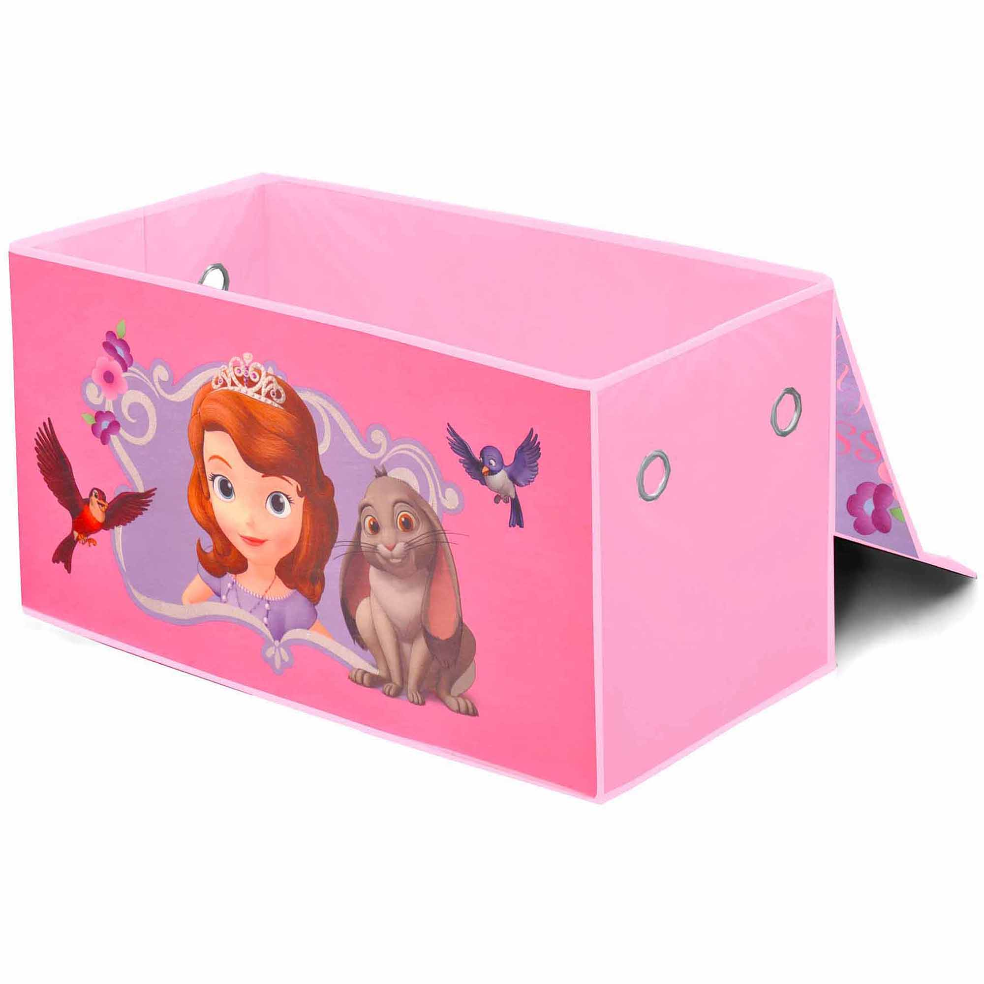Disney Sofia the First Oversized Soft Collapsible Storage Toy Trunk