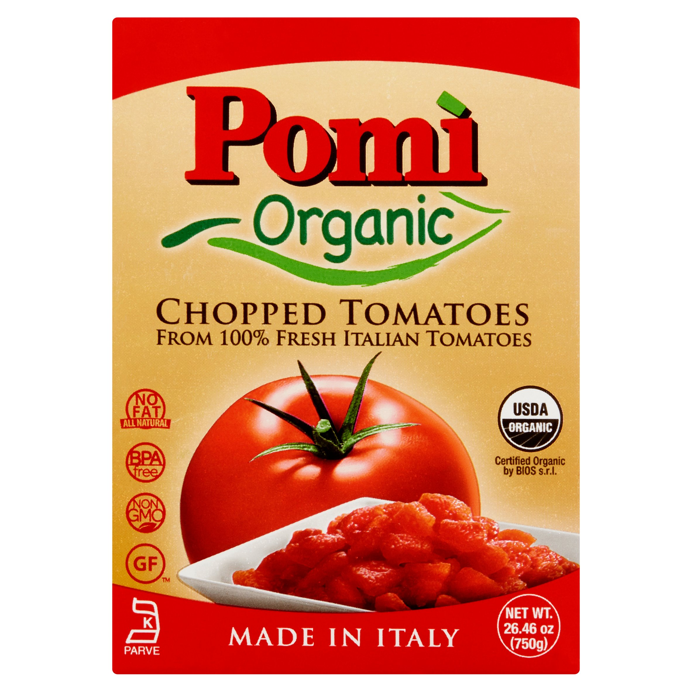 Pomi Tomatoes Chopped Org,26.46 Oz (Pack Of 12)