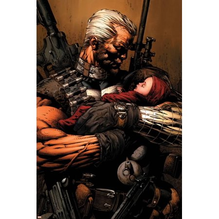 David Finch Cover - Uncanny X-Men No.493 Cover: Cable Print Wall Art By David Finch