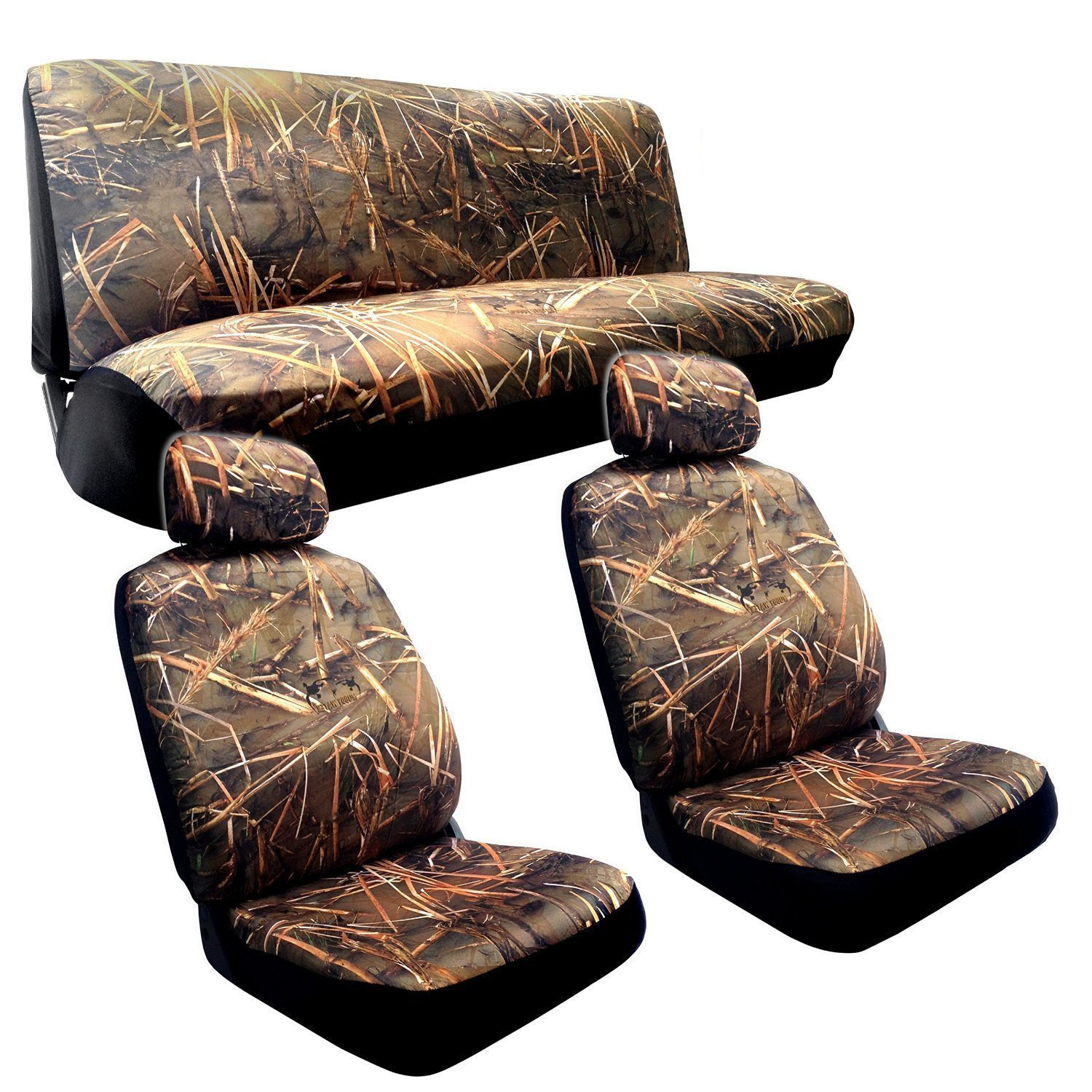 Muddy Water Camo Seat Covers for Suzuki ar Bench) Duck Forest Camouflage Hunting