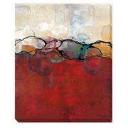 Artistic Home Gallery 'Retro Jewels II' by Laurie Maitland Painting Print on Wrapped Canvas