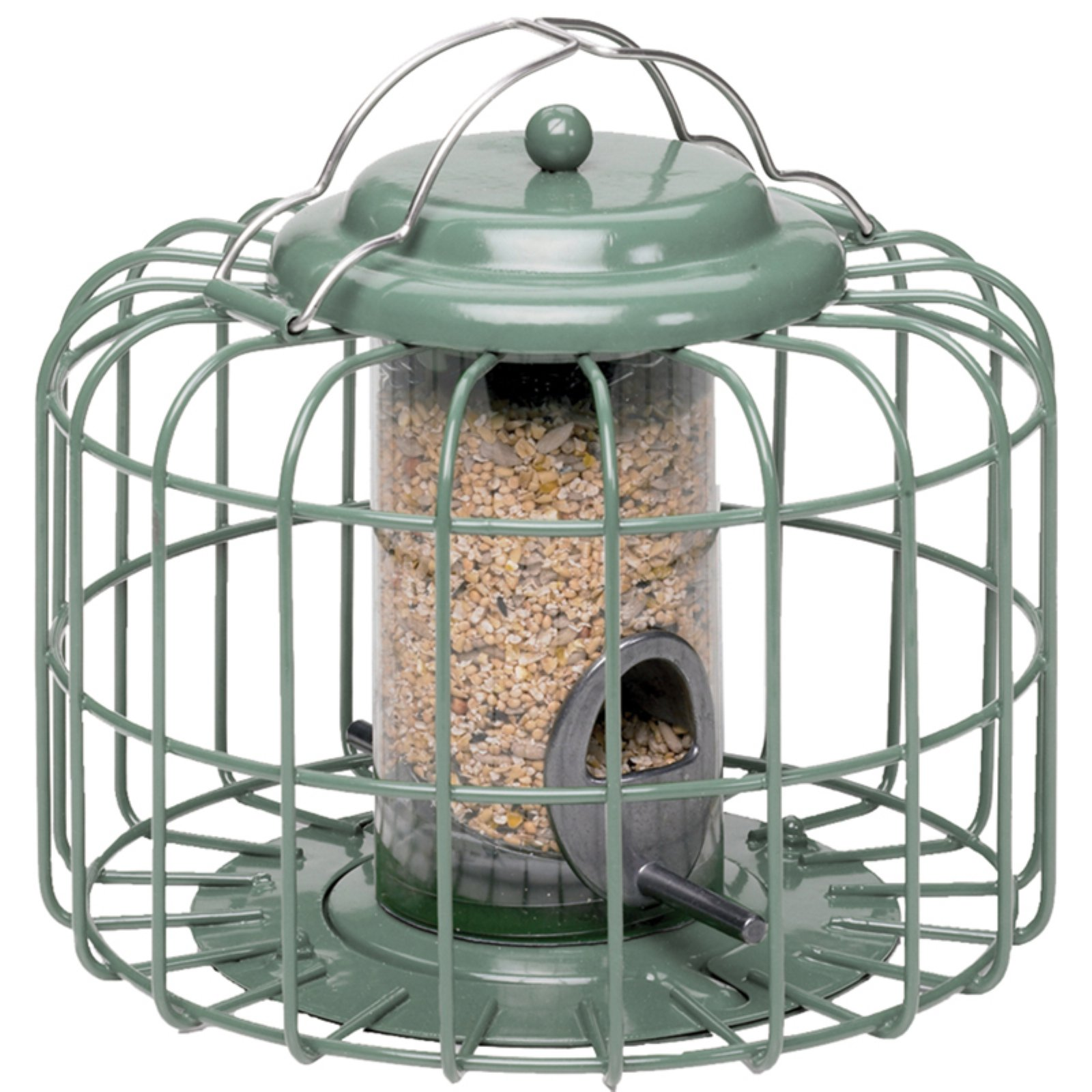 The Nuttery Mini Round Squirrel Resistant Seed Bird Feeder, Ocean Green