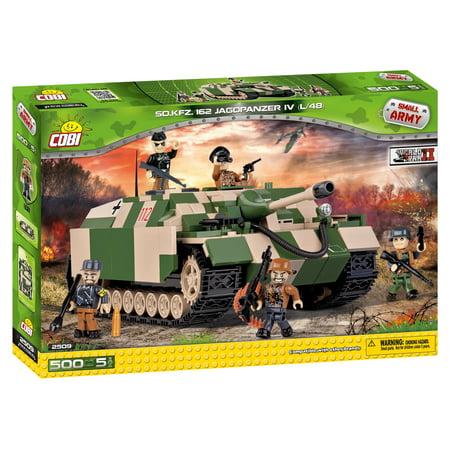 COBI Small Army World War II Sd.Kfz. 162 Jagdpanzer IV Tank 500 Piece Construction Blocks Building Kit](Construction Blocks)
