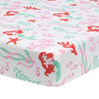 Disney Baby Ariel's Grotto White/Red Mermaid Fitted Crib Sheet by Lambs & Ivy