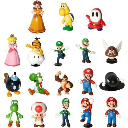 Super Mario Bros Lot 18 pcs Action Figure Doll Playset Figurine Gift Collection by