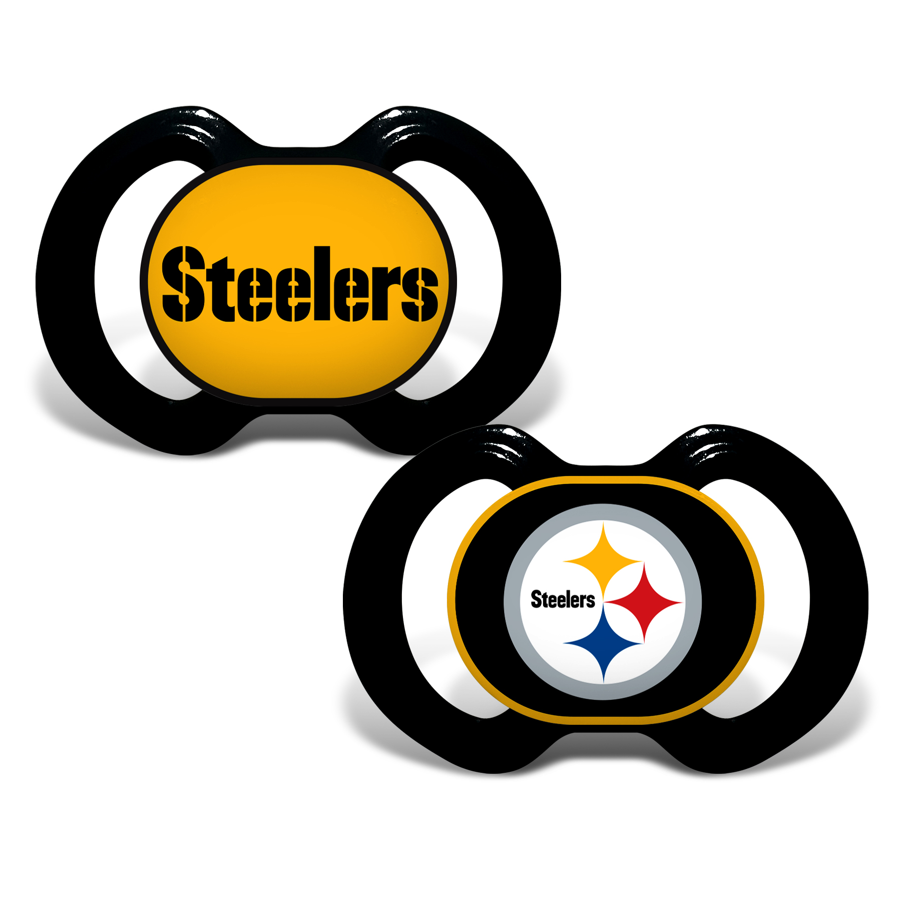 NFL Pittsburgh Steelers 2-Pack Pacifiers