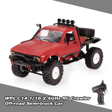 WPL C14 1/16 2.4GHz 4WD RC Crawler Off-road Semi-truck Car with Headlight RTR Remote Control Car Gift for Kids and (Best Truck Wheels For The Money)