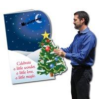 Giant Christmas Card (Die Cut Christmas Tree) 2 feet x 3 feet Card with Envelope