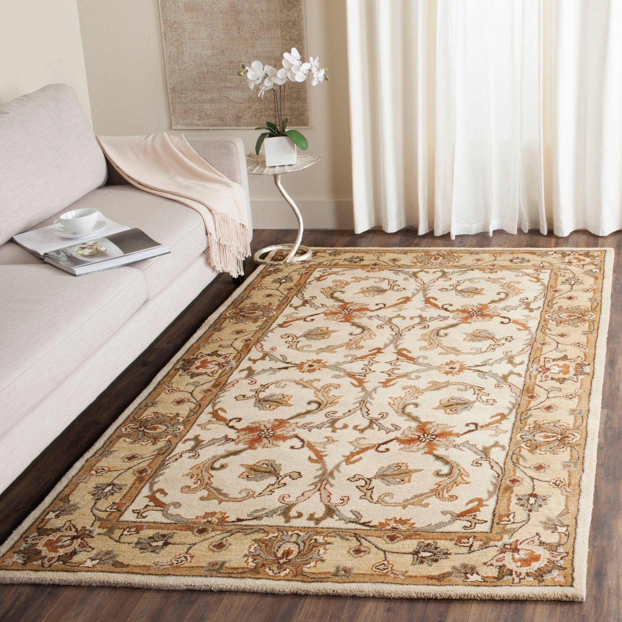 Safavieh Heritage Norwood Hand-Tufted Wool Area Rug, Beige/Gold