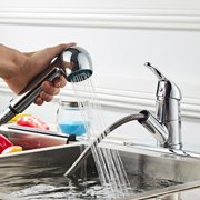 Ktaxon Commercial Stainless Steel Single Lever Single Handle Pull Out Sprayer Prep Kitchen Sink Faucets