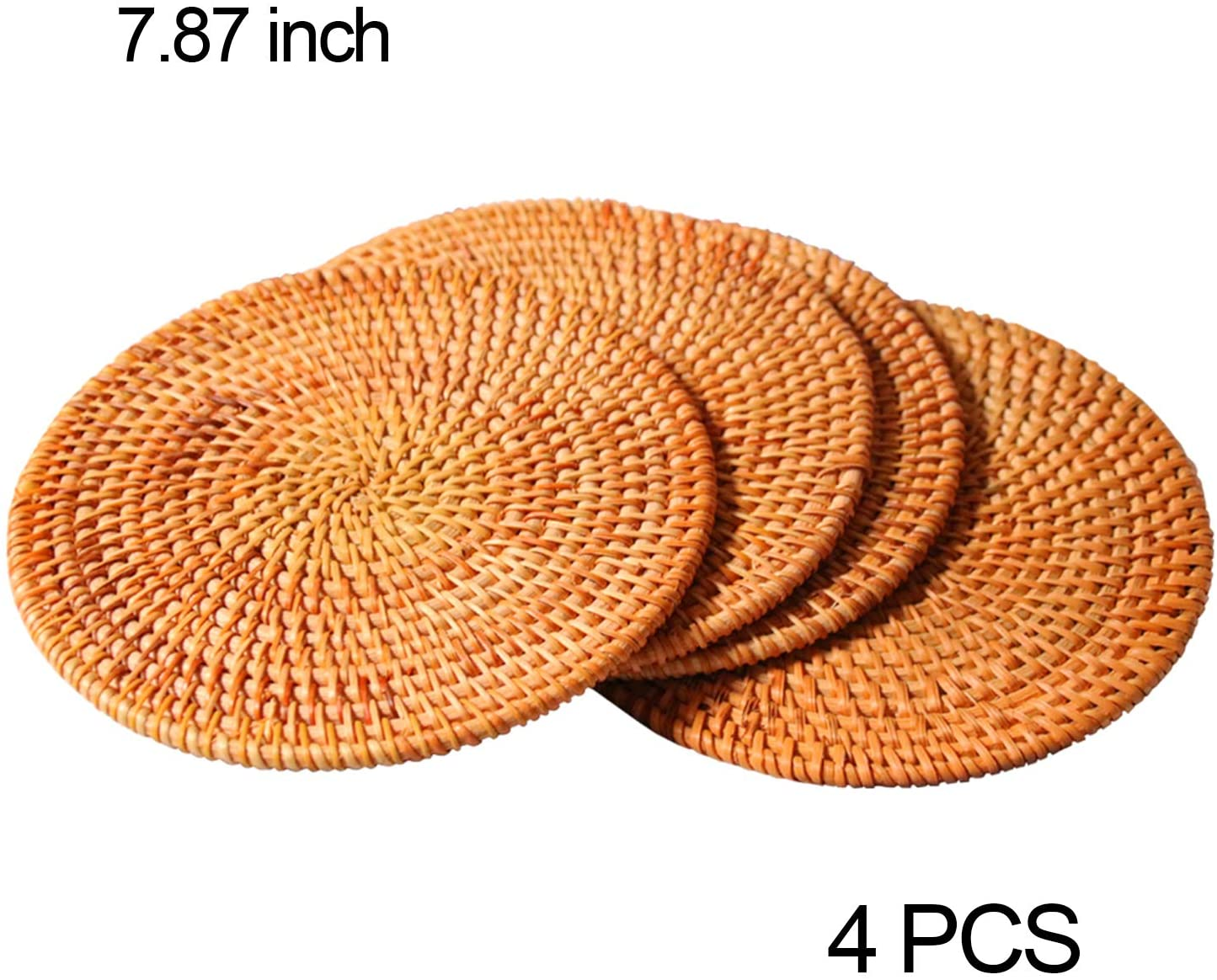 Chainplus 4 Pcs Trivets For Hot Dishes Woven Rattan Trivets Hot Pads For Dinning Table Kitchen Heat Resistant Straw Dish Coasters Placemats Pot Holder 7 87 Inch Walmart Canada