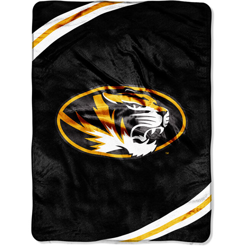"NCAA 60"" x 80"" Royal Plush Raschel Throw, University of Missouri"