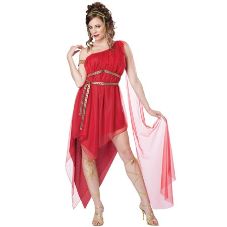 Ruby Goddess Adult Costume (California Costumes Women's Athenian Goddess Costume)