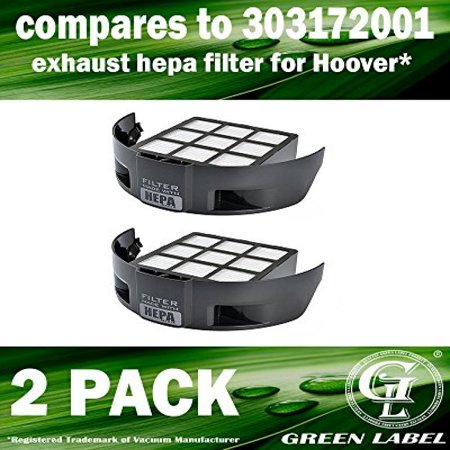 (2 Pack Exhaust HEPA Filter for Hoover T Series Windtunnel Vacuum Cleaners (compares to 303172001). Genuine Green Label Product.)