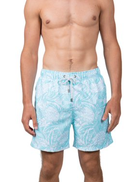 "Endless Summer Men's 6"" Pineapple Swim Short, up to Size 2XL"
