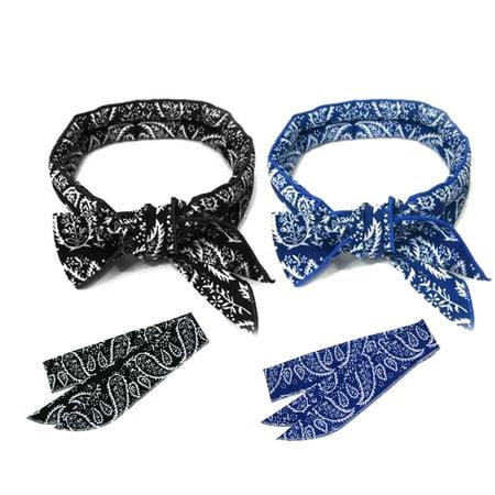 Open Neck Wrap (2 Pcs, Sports Neck Cooling Scarf Wrap, Keep you Cool Bandana (Black, Blue))