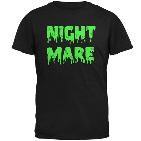 Halloween Nightmare Horror Slime Dripping Text Mens T Shirt