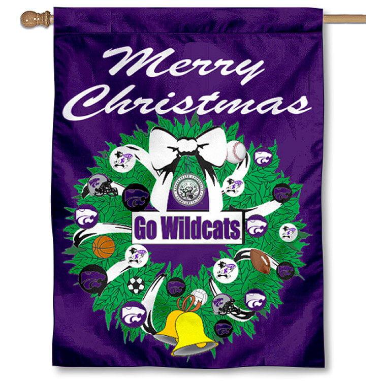 Kansas State University Wildcats Merry Christmas Banner Flag