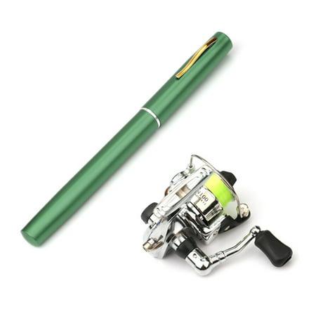 1M / 1.4M Pocket Collapsible Fishing Rod Reel Combo Mini Pen Fishing Pole Kit Telescopic Fishing Rod Spinning Reel Combo - Collapsible Stock Kit