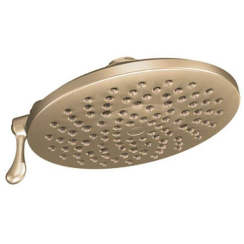 "Moen S6320ORB Velocity 8"" Multi Function Rainshower Shower Head, Available in Various Colors"