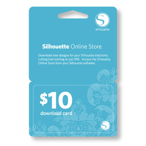 Silhouette 10 Dollar Download Card