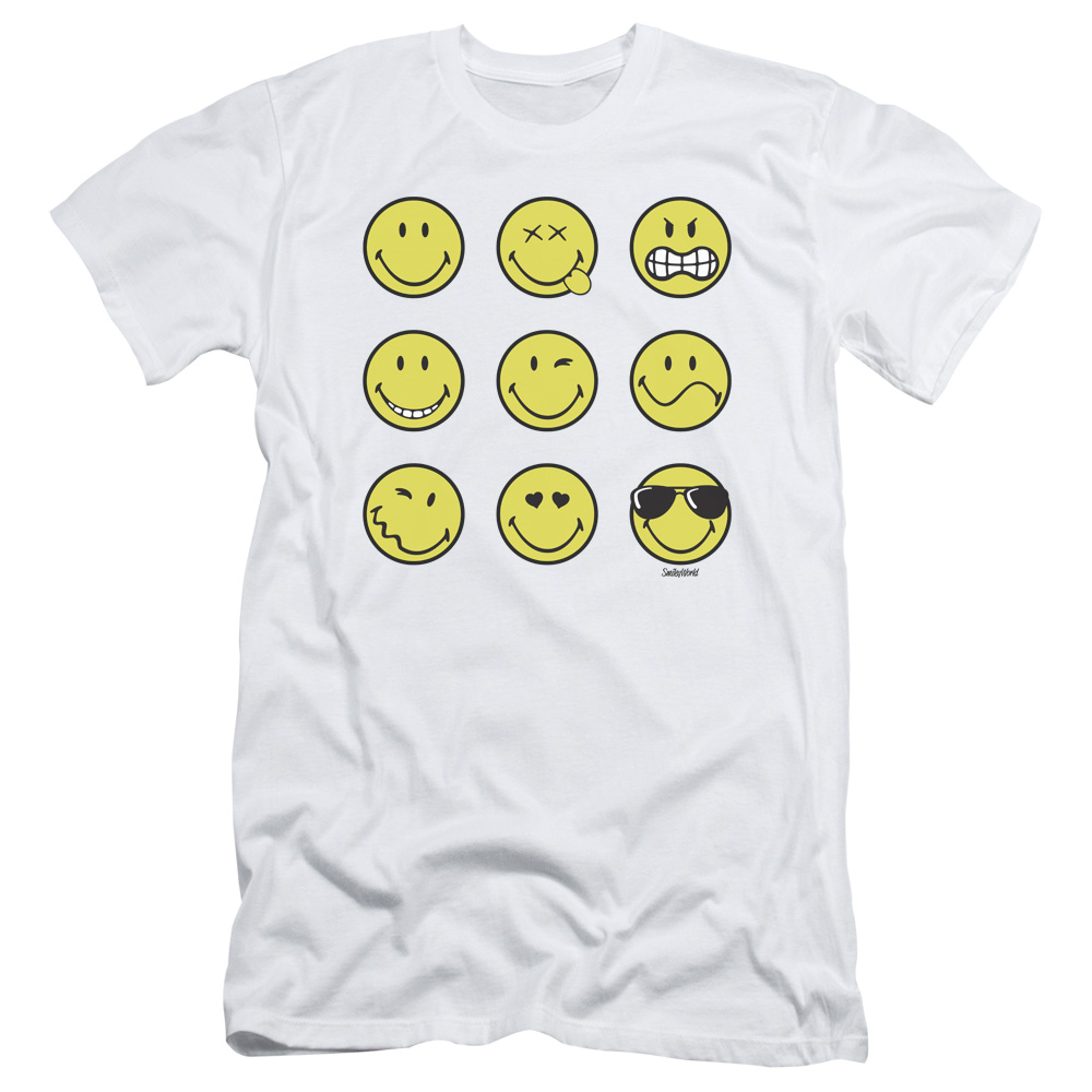 Smiley World Nine Faces Mens Slim Fit Shirt