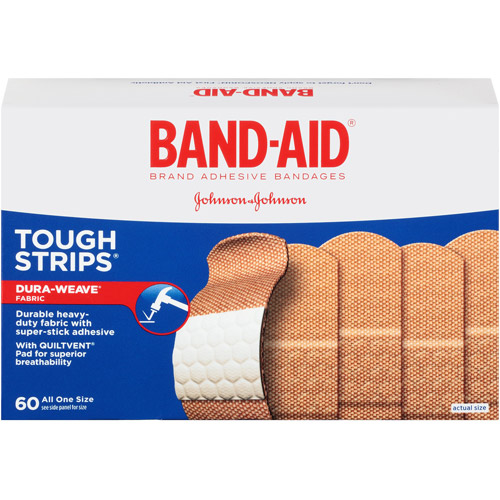 Band-Aid Brand Adhesive Bandages Tough Strips, 60 count