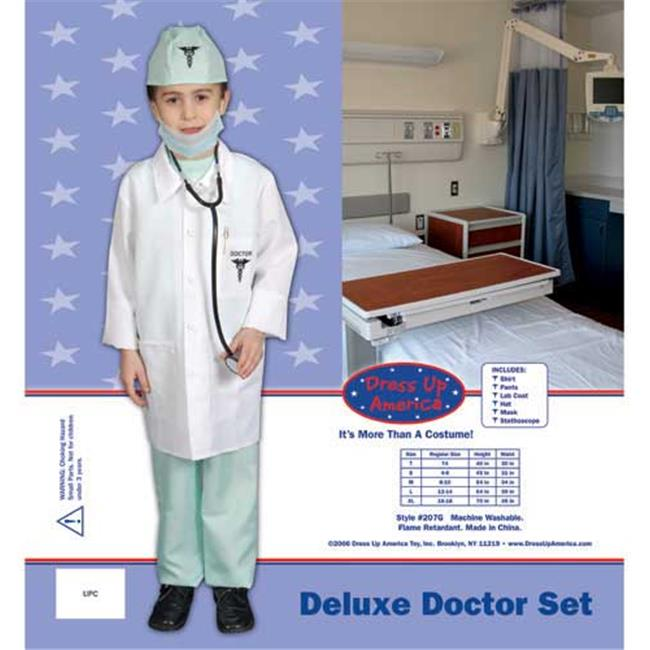 Award Winning Deluxe Doctor Dress up Costume Set - Large 12-14