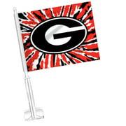 Jay Mac Sports UGA Car Flag- Tie Dye