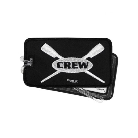 Crew Rowing Luggage Tag – Embroidered Set of 2 Black