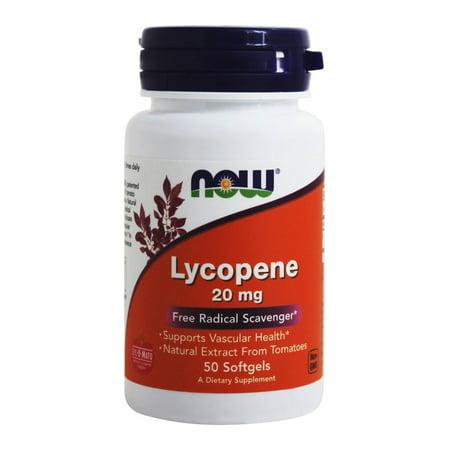NOW Foods Lycopene 20 mg 50 Sgels