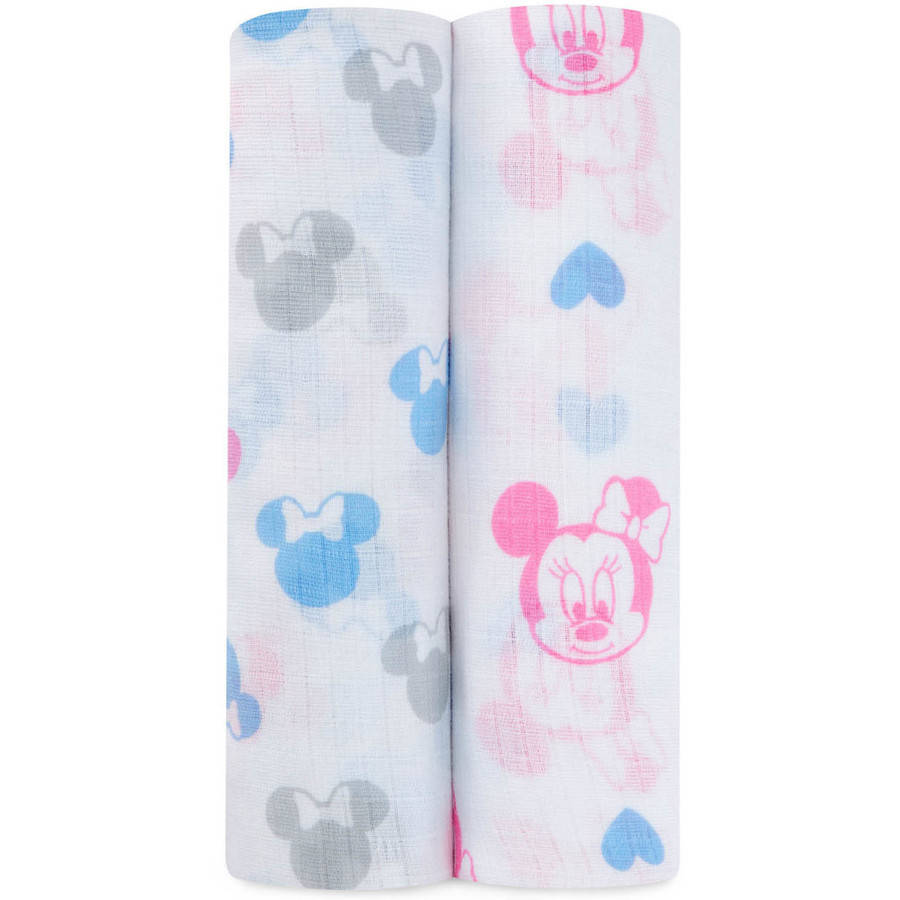 Ideal Baby by the Makers of Aden + Anais Disney Minnie Swaddle, Pack of 2
