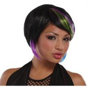 Costumes For All Occasions MR177442 New Rave Wig Black Lime Blue