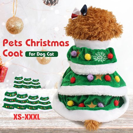 Christmas Pet Dog Cat Coat Cotton Warm Halloween Puppy Dog Clothes Cat Costumes Apparel