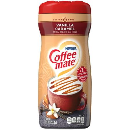 (3 pack) COFFEE MATE Vanilla Caramel Powder Coffee Creamer 15 oz. Canister Fat Free French Vanilla Creamer