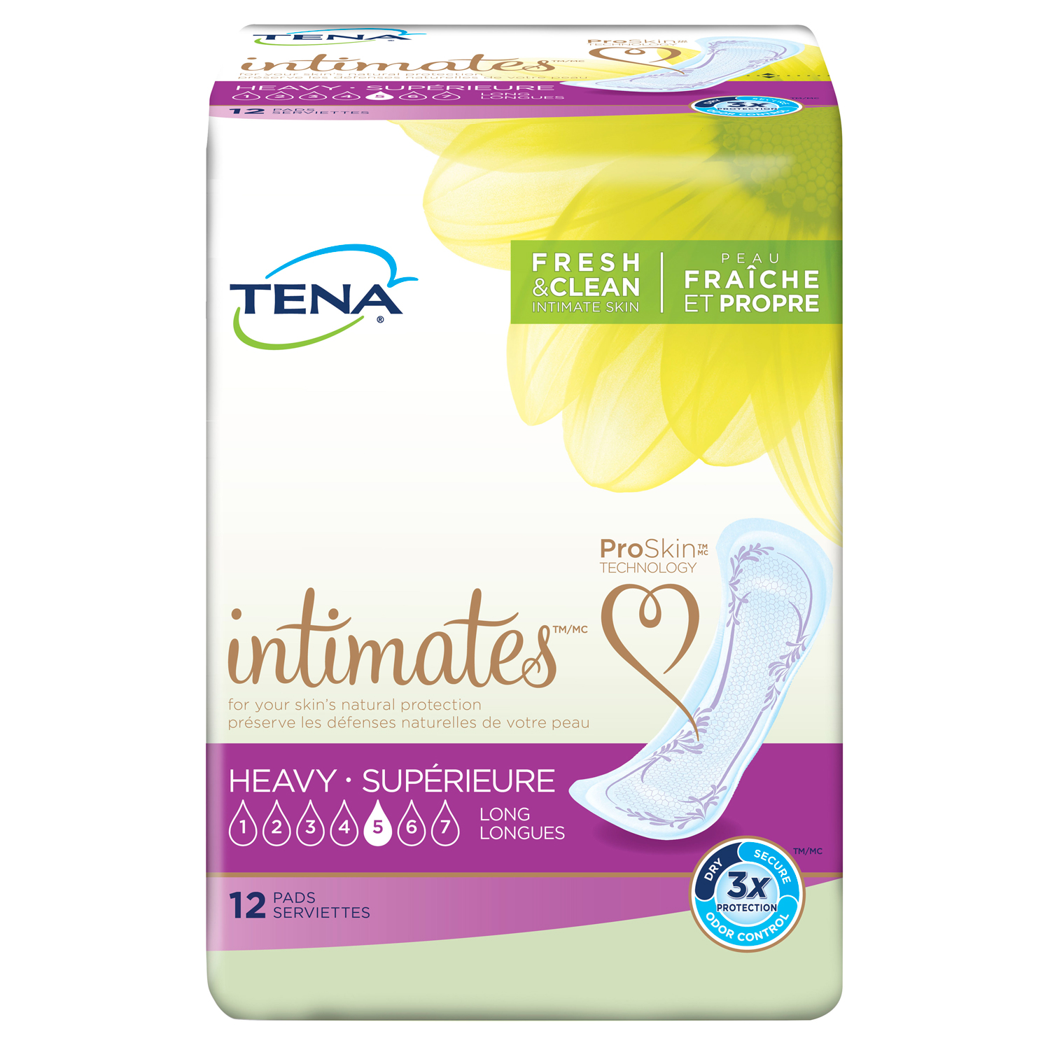 Tena Incontinence Pads for Women, Heavy, Long, 12 Count