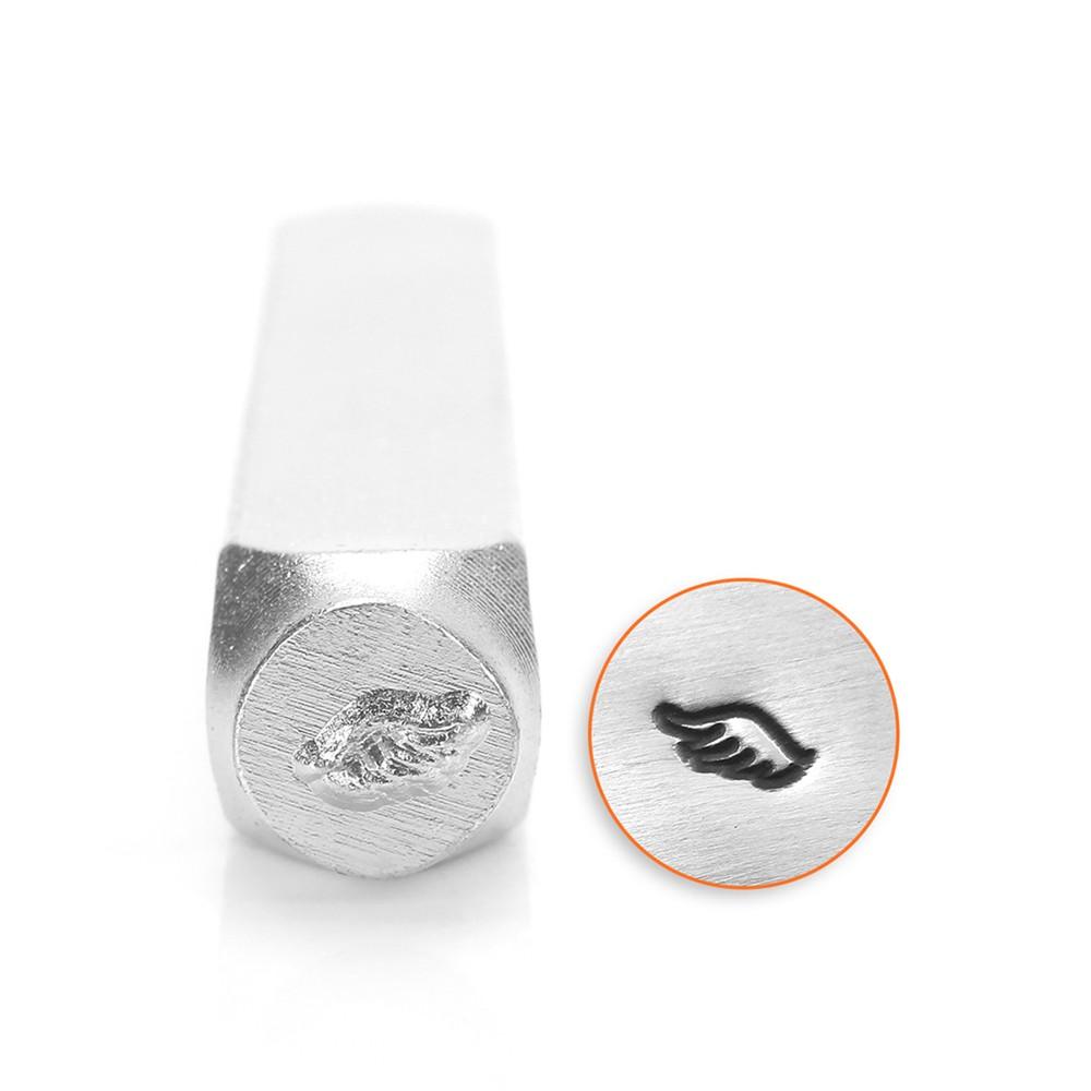 ImpressArt Wing Left Punch Stamp for Metal 1/4 Inch 6mm - 1 Piece