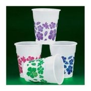 Hibiscus Design Disposable Cups (50Pc) - Party Supplies - 50 Pieces