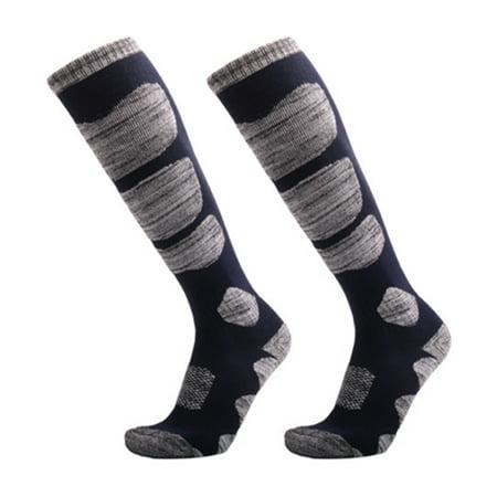 Ski Socks Winter Warm Men Women Outdoor Cycling Snowboarding Hiking Sport Long Hose Thicker Thermosocks Cotton (Ski Socks Men Warm)