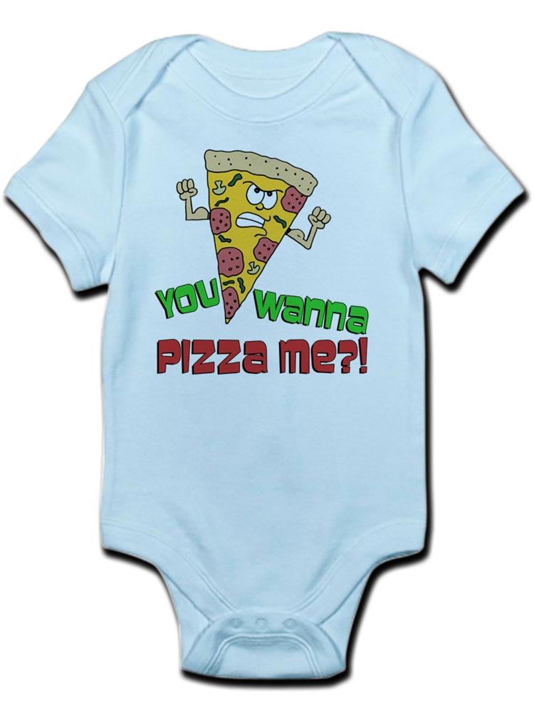 Pizza Shark Infant Baby Short Sleeve Bodysuit Romper