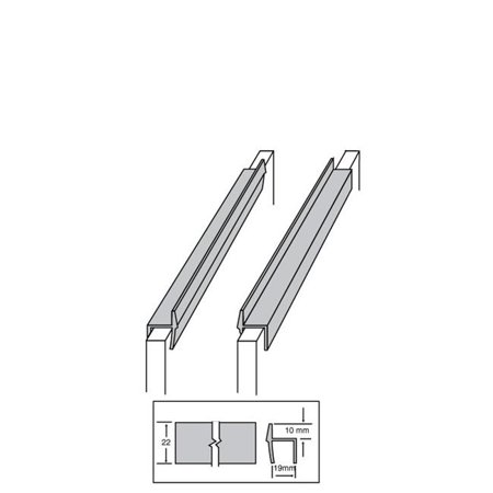 Hanging File Rail, Black - 2 ft. & 0.75 in.